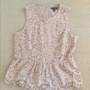 J Crew sleeveless lace top